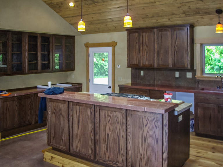 Oak Kitchen Cabinets With Dark Walnut Stain, Blue Lake, CA