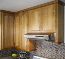 Cherry kitchen cabinets, Fortuna, CA