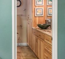 Hickory bathroom cabinets, Sacramento, CA