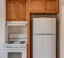Stained Alder kitchen cabinets, Eureka, CA