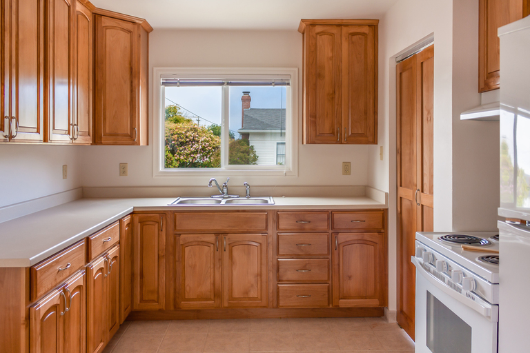 Stained alder kitchen cabinets eureka ca north coast for California kitchen cabinets