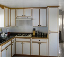 Melamine kitchen cabinets with Oak edging - Hydesville, CA